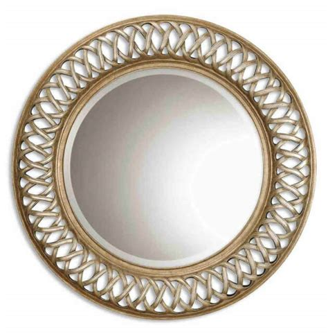 Uttermost Bedroom Entwined Antique Gold Mirror 14028 B .